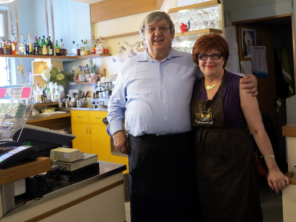 Trattoria alla Botna, Udine proud owners